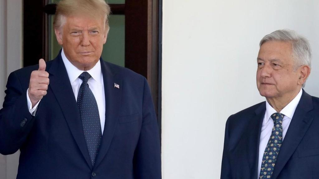 Visite d'AMLO aux États-Unis: Trump et Lopez Obrador jouent la bonne entente