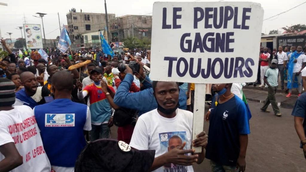 RDC: les partisans de Lamuka dans la rue contre le nouveau président de la Céni