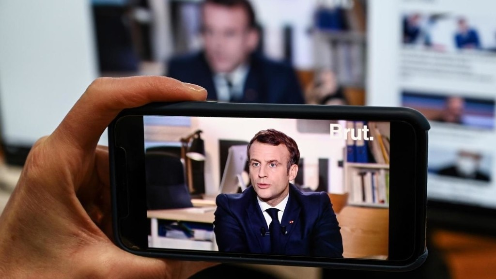 Macron deplores 'cycle of violence' in interview with online platform Brut