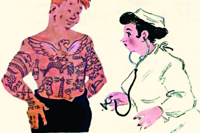Как советская карикатура безуспешно боролась с татуировками