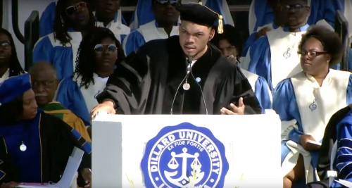 Watch Chance the Rapper Praise Beyonce in Dillard University Commencement Speech
