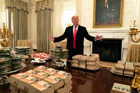 Supreme Leader Donald Trump Lies About Volume of Fast Food Hamburgers