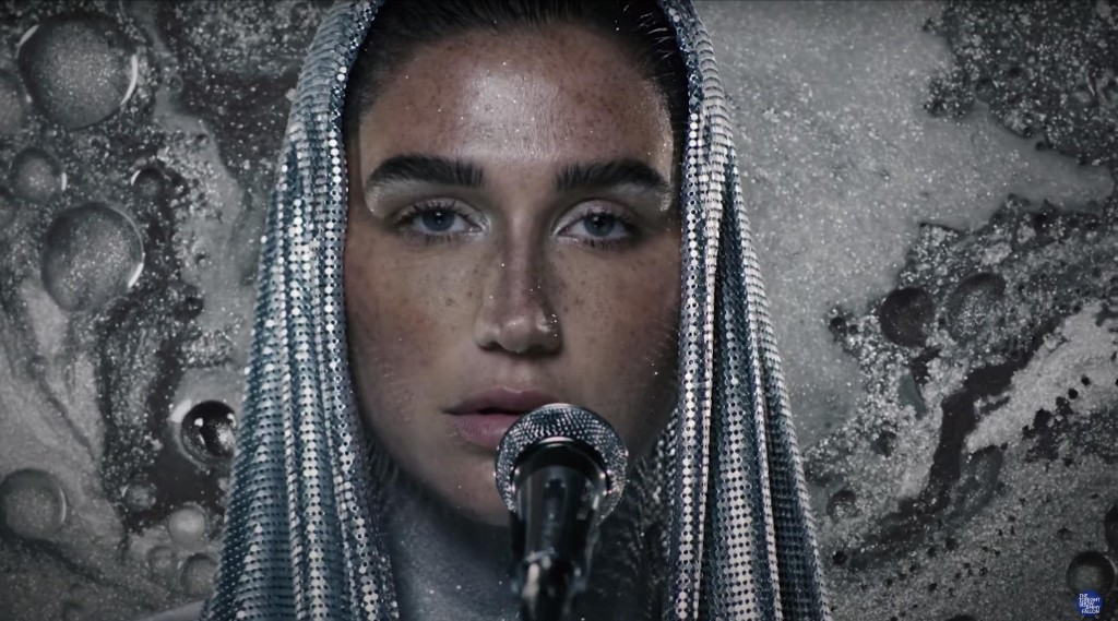 Watch Kesha Perform T. Rex's 'Children of the Revolution' in Silver Body Paint
