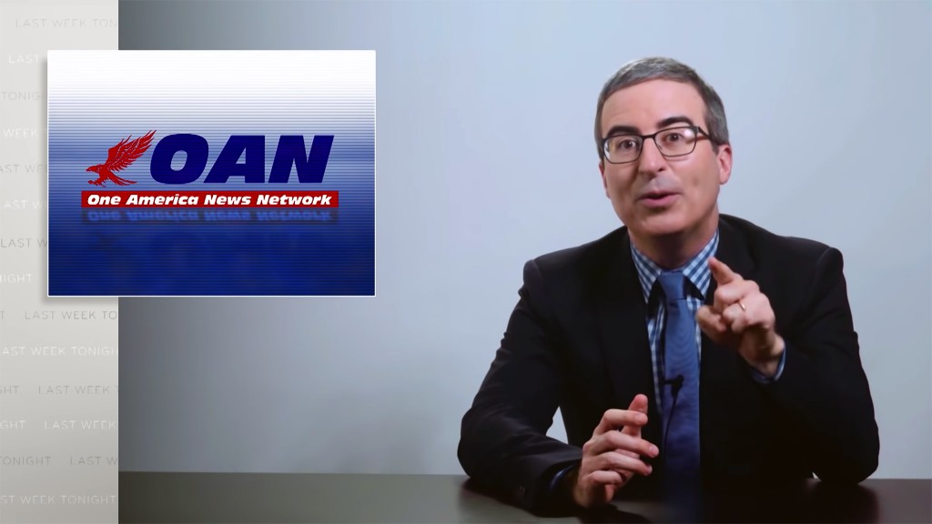 John Oliver Scrutinizes Donald Trump's Other Favorite News Network, OAN