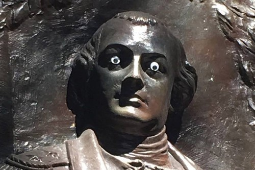 Unidentified Prankster Sticks Googly Eyes on Statue of Revolutionary War General
