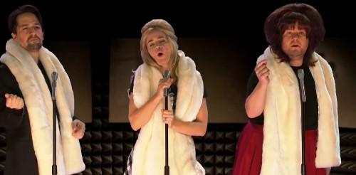 See Lin-Manuel Miranda, Emily Blunt Perform 22 Musicals on 'Corden'