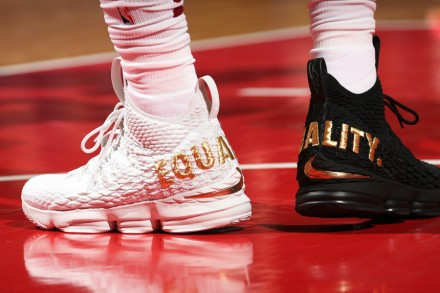 LeBron James Sends Message of 'Equality' With Black and White Sneakers