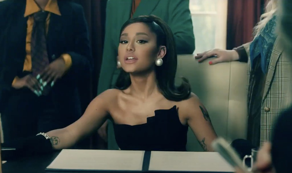 Ariana Grande Multitasks Running the Country and Home Life in 'Positions' Video
