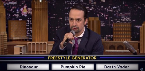 Watch 'Hamilton' Star Lin-Manuel Miranda Freestyle With the Roots