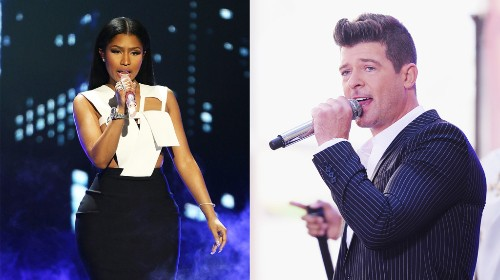 Robin Thicke, Nicki Minaj Deliver Blistering 'Back Together'