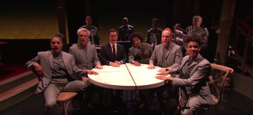 See David Byrne Perform 'Everybody's Coming to My House' With Stephen Colbert