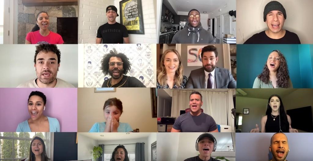 Lin-Manuel Miranda, 'Hamilton' Cast Reunite on John Krasinski's YouTube Show