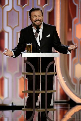 Watch Ricky Gervais' Hilarious Golden Globes 2016 Monologue