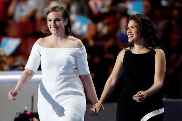 Watch Lena Dunham, America Ferrera at DNC: 'Love Trumps Hate'