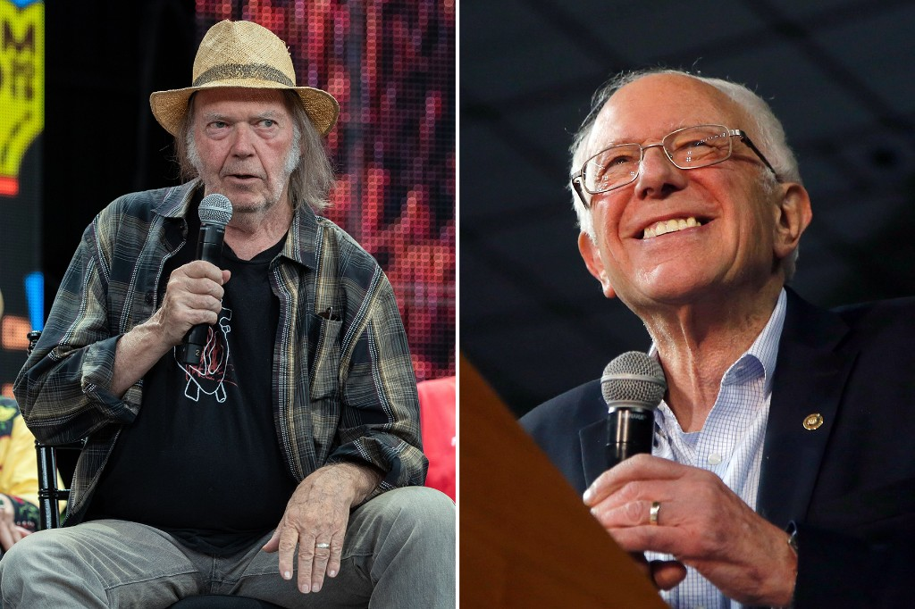 Neil Young Endorses Bernie Sanders for President