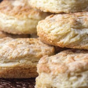 Use a cast-iron skillet to achieve an even more delicious exterior on these flaky biscuits