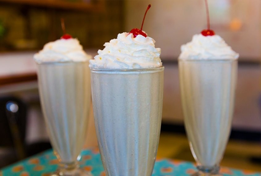 Disney's famous peanut butter and jelly milkshake recipe has four ingredients
