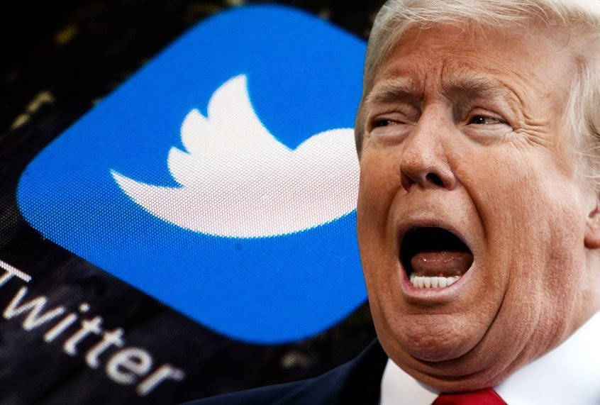 "Twitter slaps warning on Trump's tweet calling for protesters to be shot for ""glorifying violence"""