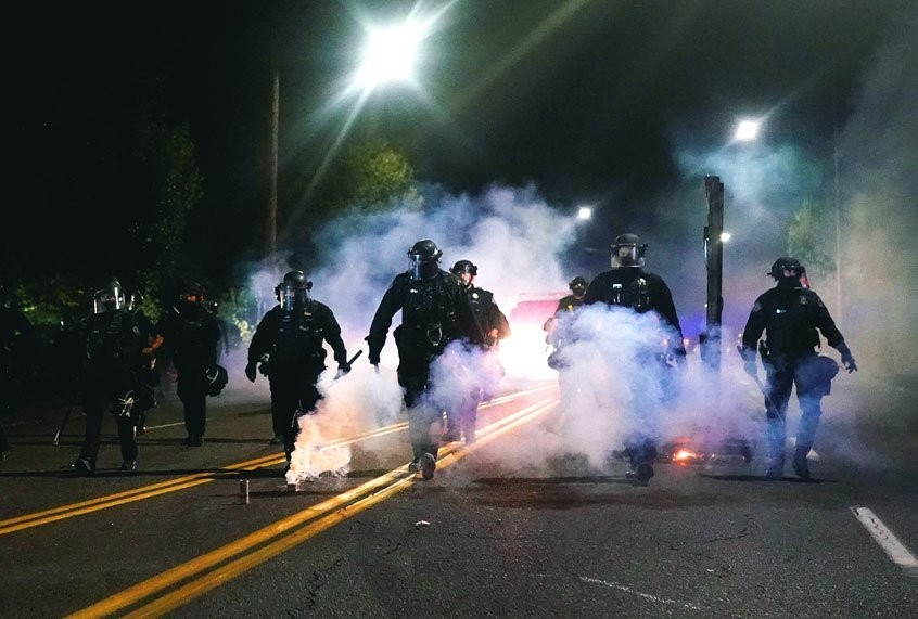 So much tear gas has been sprayed on Portland protesters that officials fear it's polluted the water