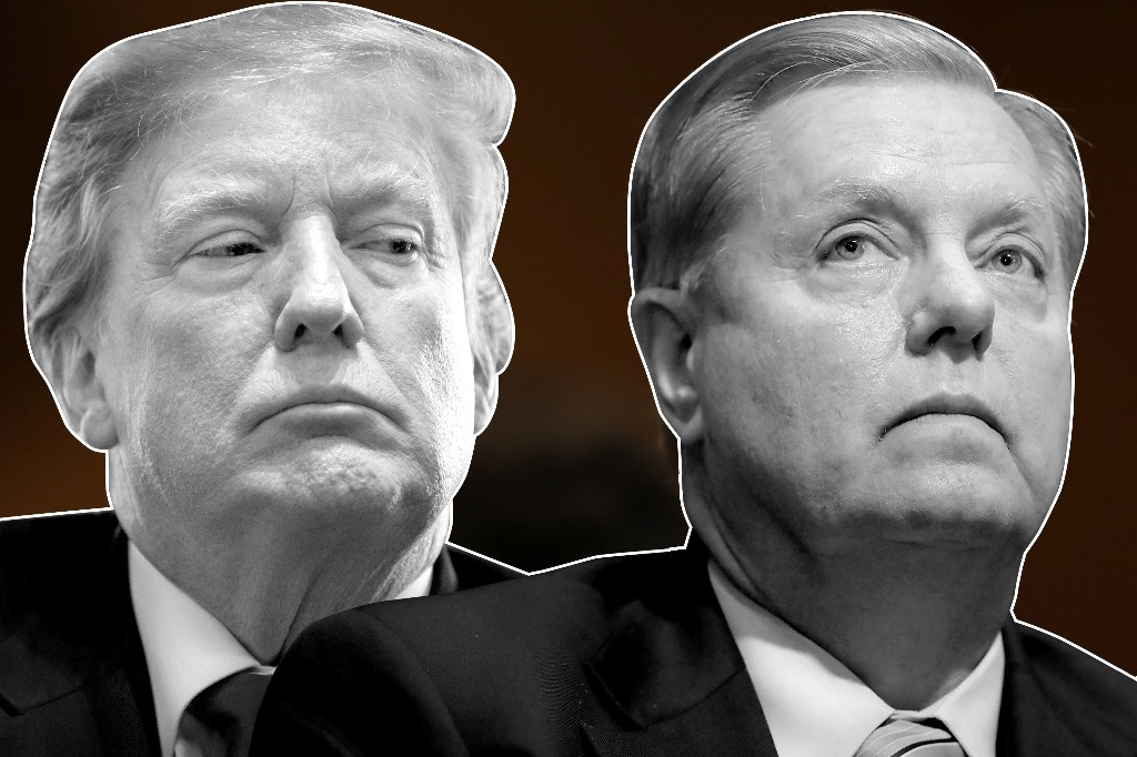 Lindsey Graham featured front and center in new anti-Trump attack ad