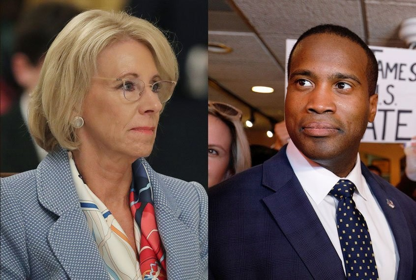 Michigan GOP candidate who downplayed ties to DeVos hires her niece after getting $1M cash infusion