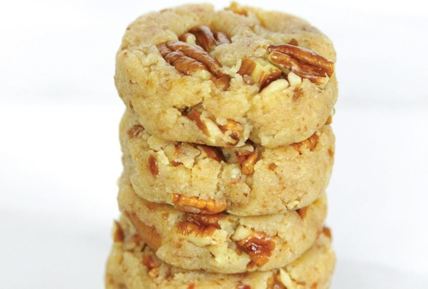 Dress these pecan sandies up by drizzling melted chocolate over the top