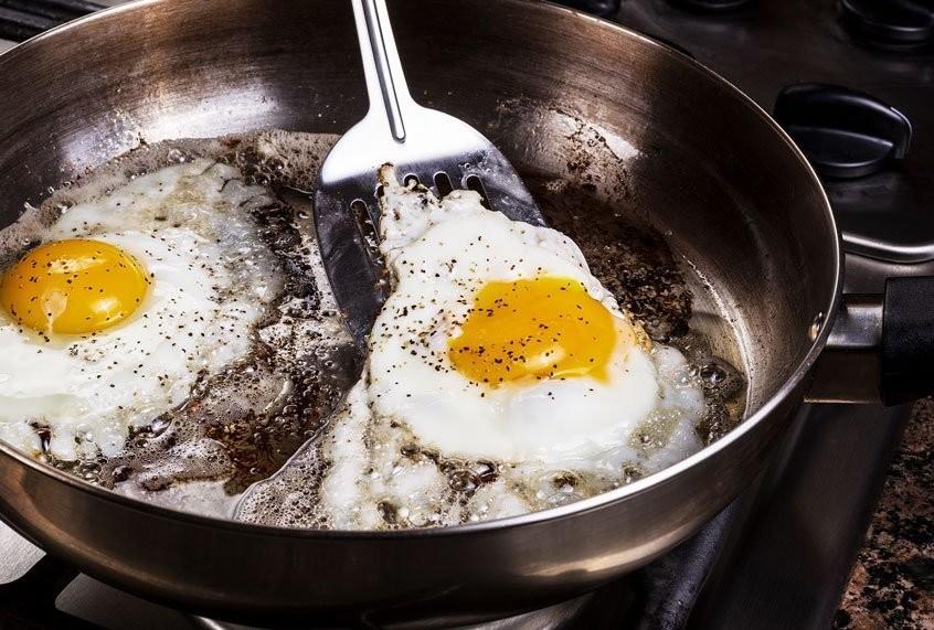 Fry an egg to make crispy breakfast tostadas, a twist on a versatile dish