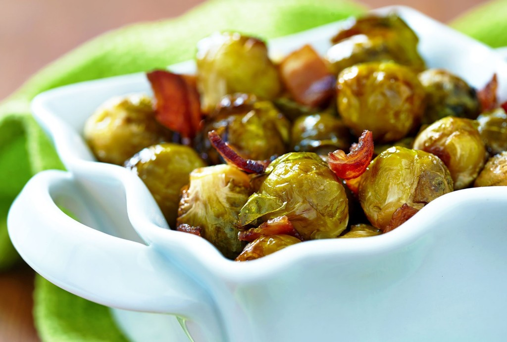 Enjoy il Buco's signature salty, caramelized Brussels sprouts with guanciale in your own home