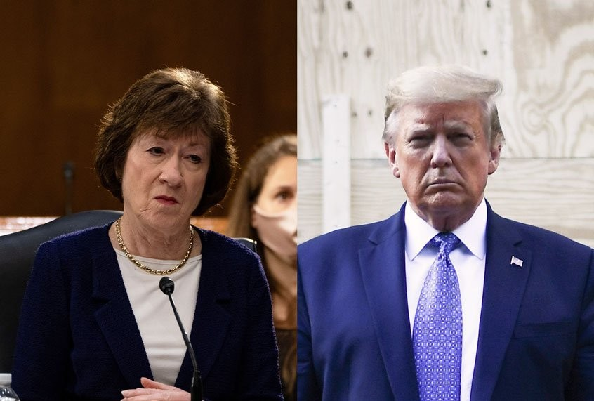 Collins misses Trump's visit to Maine after Murkowski suggests she won't back president in November