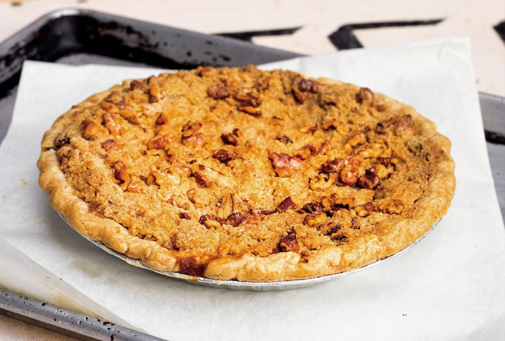 Browned butter and the caramelized flavor of maple syrup create an apple pie with layers of flavor