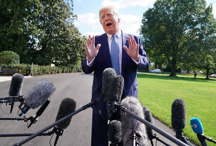 Well, the good news is Trump hasn't entirely lost his mind — or so he says