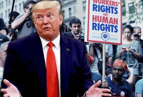 Trump is exploiting coronavirus pandemic to ram through union-busting policies