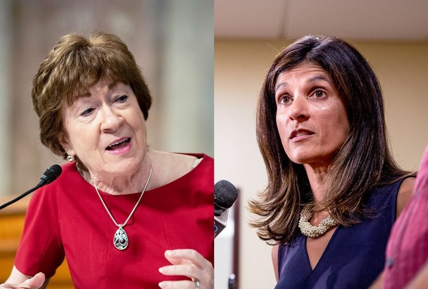 Sen. Susan Collins falls further behind Democrat rival Sara Gideon in latest poll out of Maine