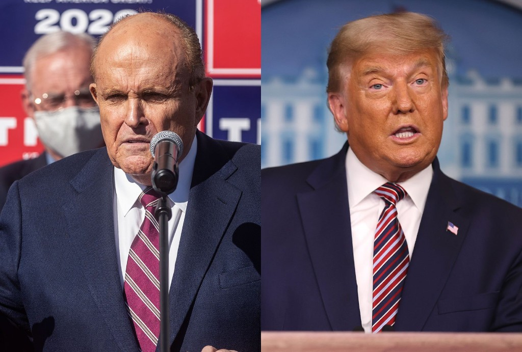 """Trump cancels trip to GOP fraud """"hearing"""" at Pennsylvania Wyndham after Giuliani exposed to COVID-19"""