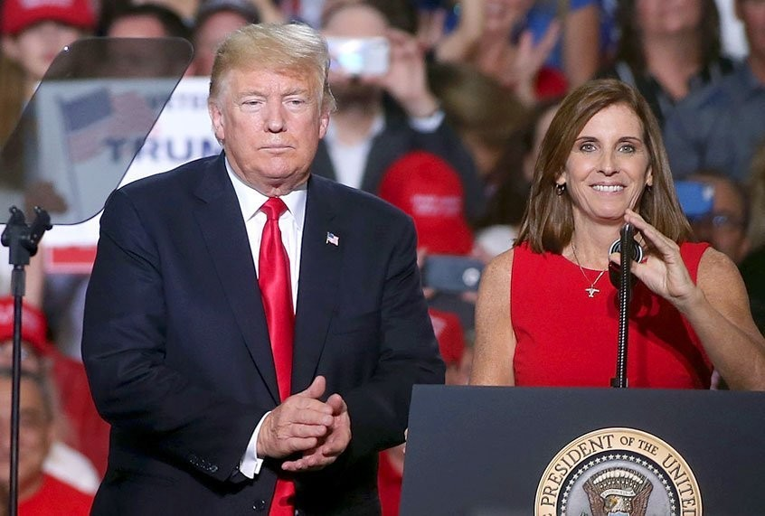 GOP's Martha McSally continues to lose ground in Arizona as she bets her political future on Trump
