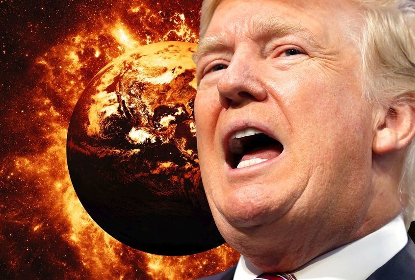 As the world burns, Trump gets what he's always wanted