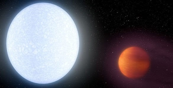 Astronomers discover a planet so hot that it glows like a star