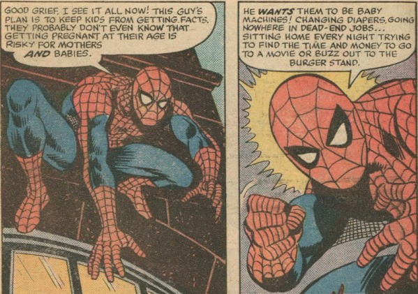 Marvel and Planned Parenthood made a Spider-Man comic in 1976 and it is awesome and weird