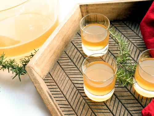 Use Smoked Rosemary for a Festive Rum Punch
