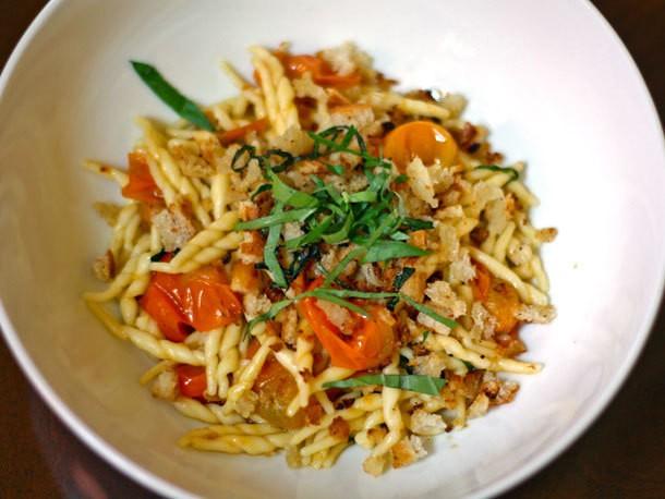 Summer Sun Gold Tomato Pasta With Breadcrumbs Recipe