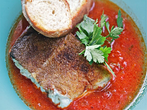 Spanish-Style Cod in Chorizo-Tomato Broth Recipe