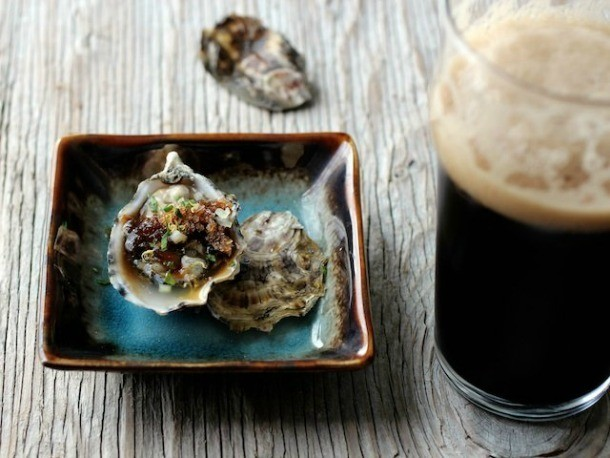 Irish Stout Granita With Raw Oysters Recipe