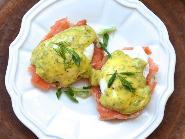 Smoked Salmon Eggs Benedict With Dill Hollandaise Recipe