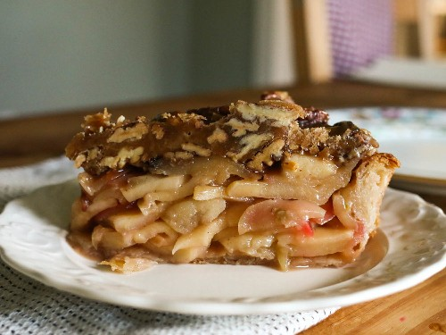 The Greatest Pie Mashup: Apple-Pecan Bourbon-Caramel Pie