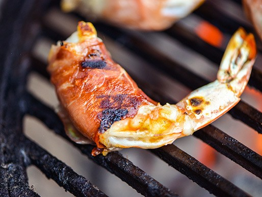 Grilling: Prosciutto-Wrapped Shrimp with Mozzarella and Basil