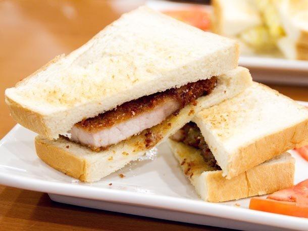 A Sandwich a Day: Pork Chop Sandwich at Cafe Hong Kong