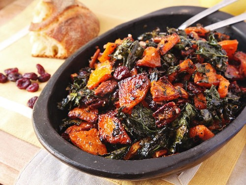 Get a Jump-Start on Holiday Prep With This Make-Ahead Roasted Squash and Kale Salad
