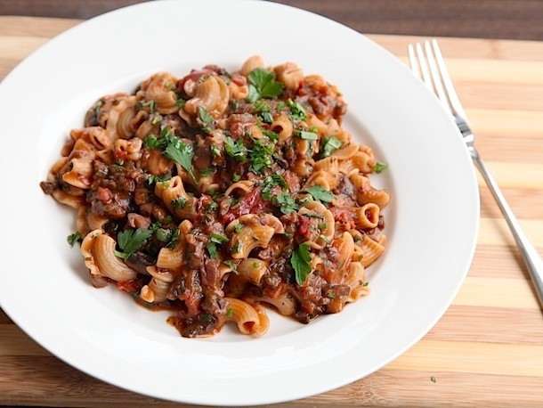 Pasta With Rich and Hearty Mushroom Bolognese Recipe