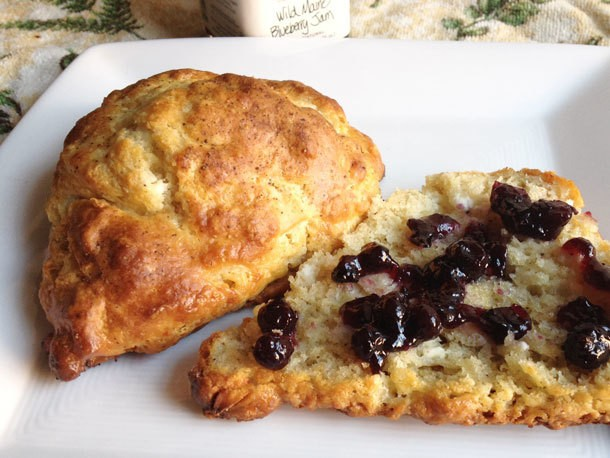 Peppered Goat Cheese Scones Recipe