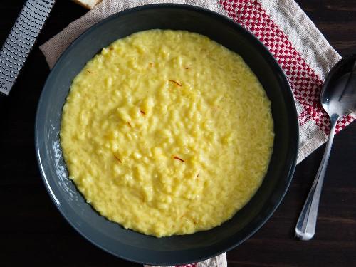Creamy Risotto alla Milanese (Saffron Risotto) Recipe